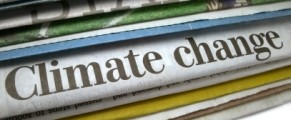 climate change headline in newspaper