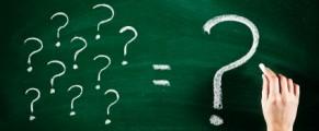 chalkboard full of question marks