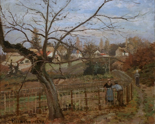 The Fence, 1872, oil on canvas by Camille Pissarro