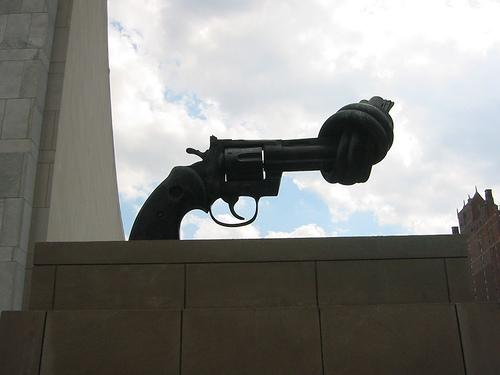 Disarmament sculpture at the UN*