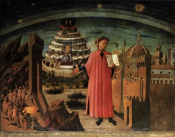 Domenico di Michelino, Dante and the Three Kingdoms