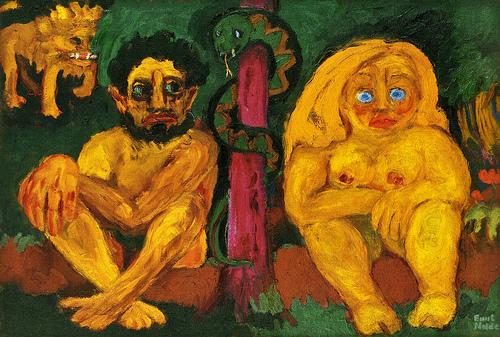 Emil Nolde - Verlorenes Paradies (Paradise Lost) (1921)