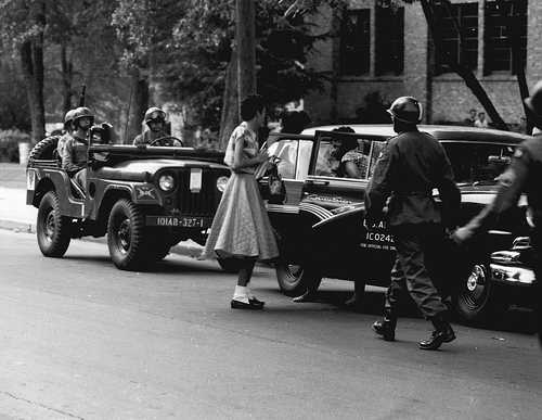 Central High School in Little Rock in Sept. 1957