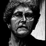 Maxine Kumin, engraving by Barry Moser.