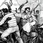 Depiction of a shipboard slave revolt, Albert Laporte, c. 1883